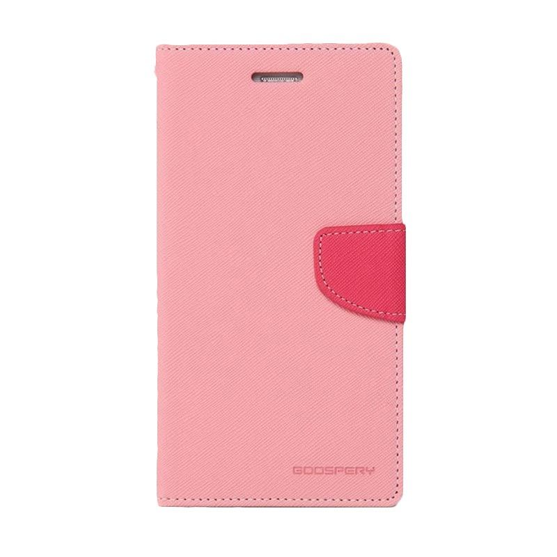Mercury Goospery Fancy Diary Pink Hotpink Casing for Xperia Z