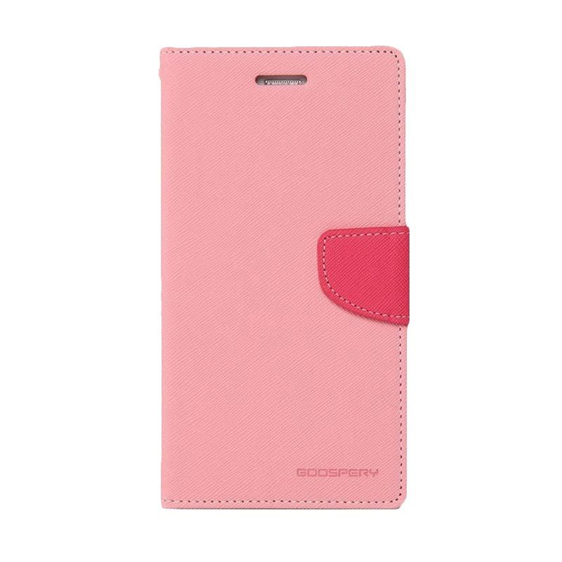Mercury Goospery Fancy Diary Pink Hotpink Casing for Xperia ZR