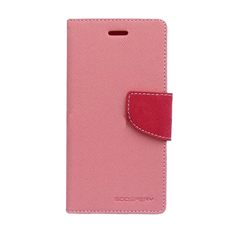 Mercury Goospery Fancy Diary Pink Hotpink Casing for Galaxy E5