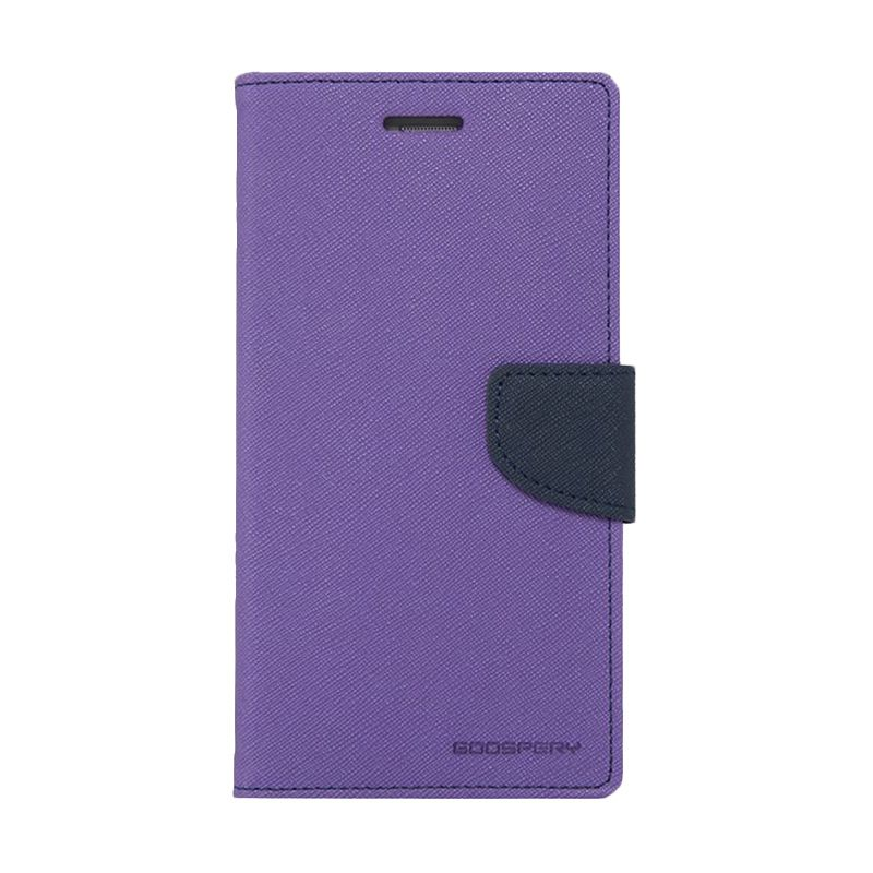 Mercury Goospery Fancy Diary Purple Navy Casing for Galaxy Ace 4 or NXT