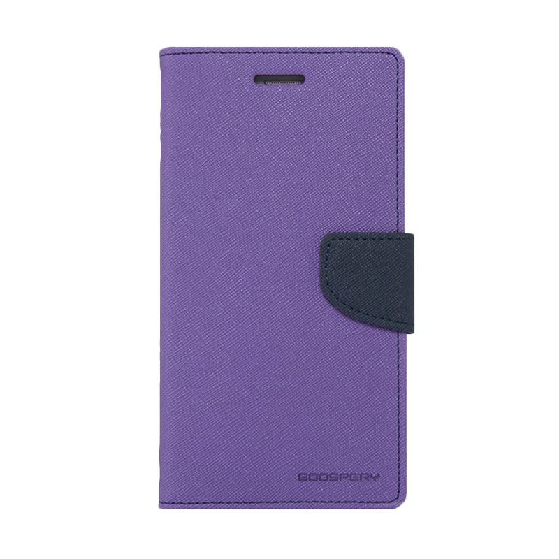 Mercury Goospery Fancy Diary Purple Navy Casing for Galaxy Core 2