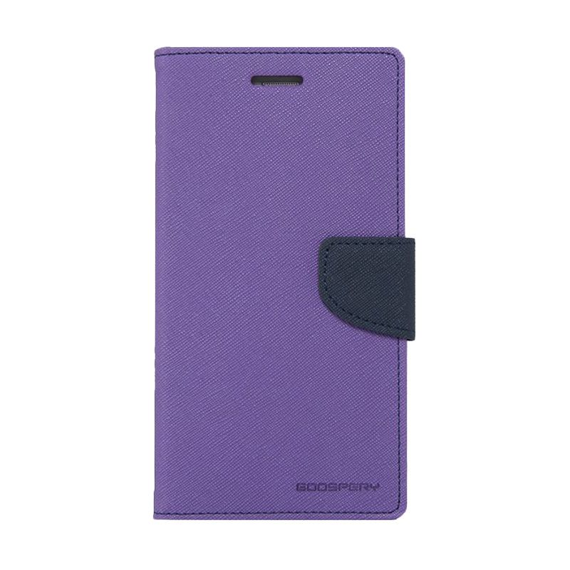 Mercury Goospery Fancy Diary Purple Navy Casing for iPhone 5 or 5S