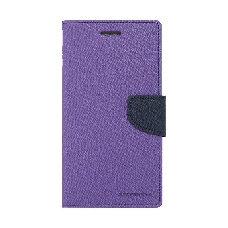 Mercury Goospery Fancy Diary Purple Navy Casing for LG Pro 2