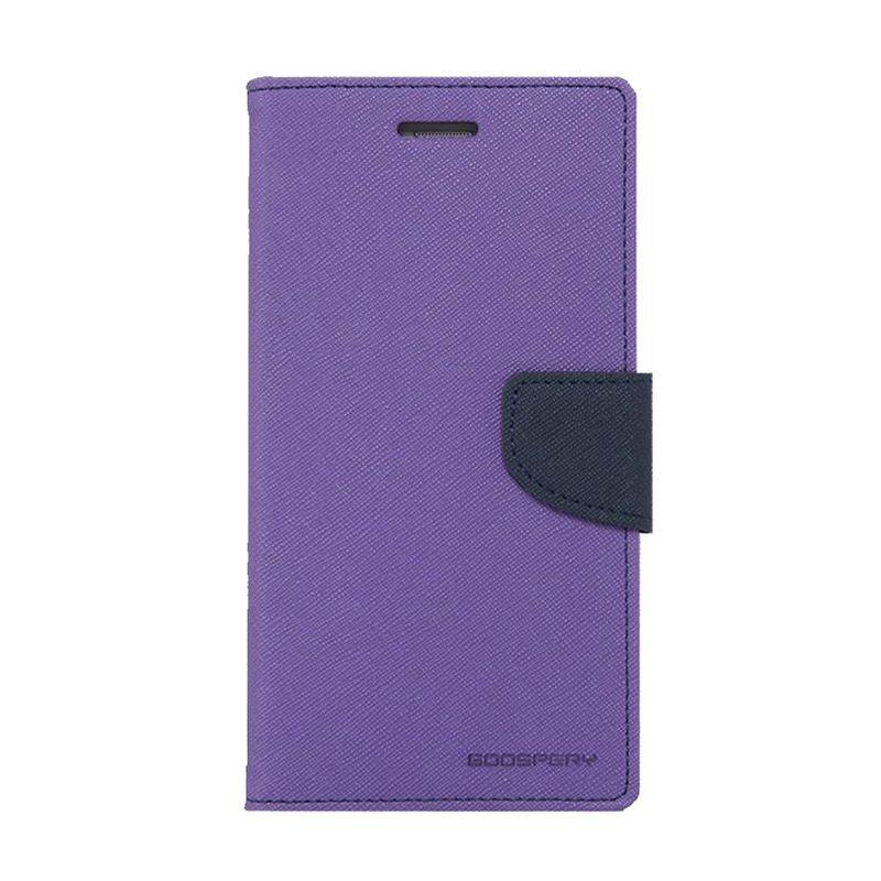 Mercury Goospery Fancy Diary Purple Navy Casing for Samsung Galaxy Grand 2