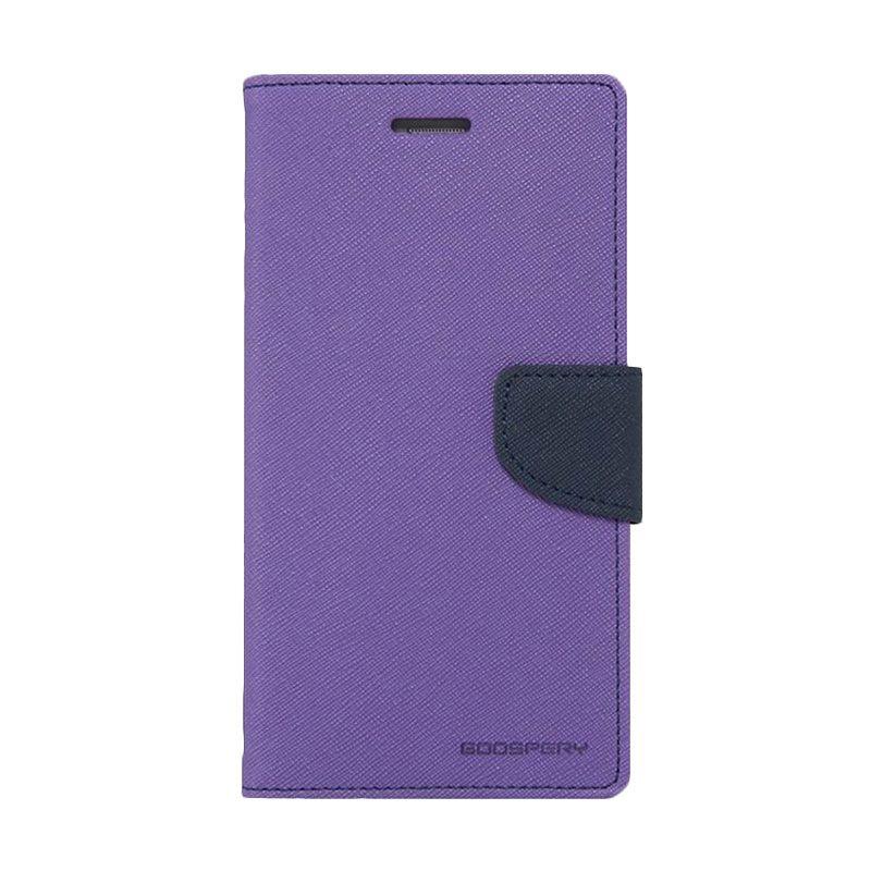 Mercury Goospery Fancy Diary Purple Navy Casing for Xiaomi Mi3