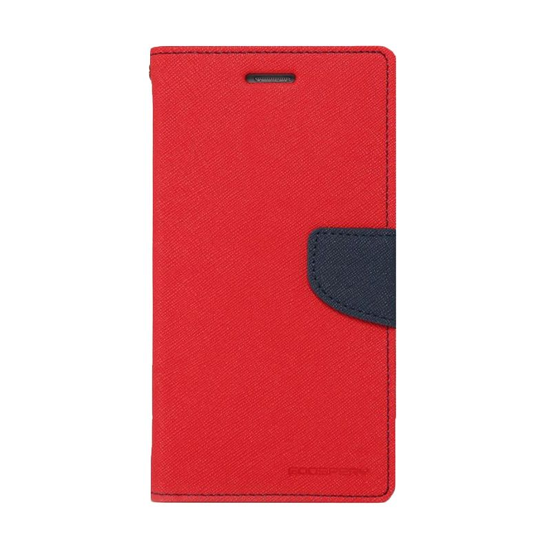 Mercury Goospery Fancy Diary Red Navy Casing for Galaxy Ace 4 or NXT