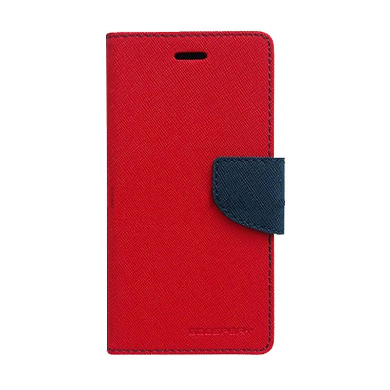 Mercury Goospery Fancy Diary Red Navy Casing for Galaxy Core 2