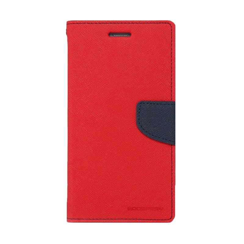 Mercury Goospery Fancy Diary Red Navy Casing for Galaxy S5