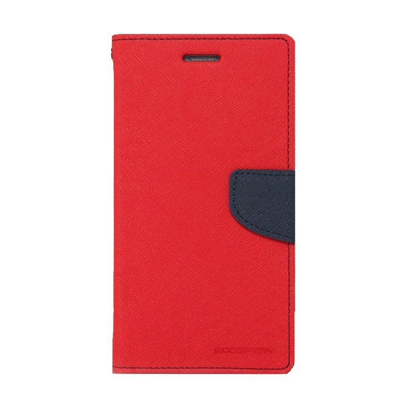 Mercury Goospery Fancy Diary Red Navy Casing for HTC One Mini