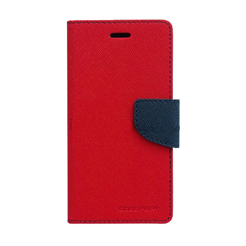 Mercury Goospery Fancy Diary Red Navy Casing for Redmi 1S