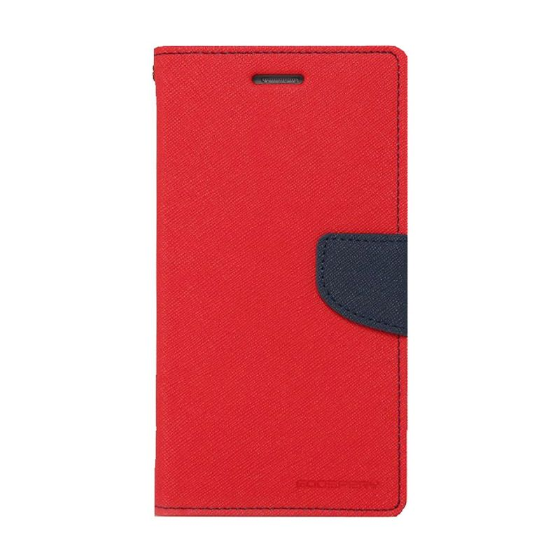 Mercury Goospery Fancy Diary Red Navy Casing for Samsung Galaxy Grand 2