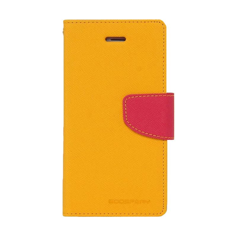 Mercury Goospery Fancy Diary Yellow Hotpink Casing for iPhone 5 or 5S