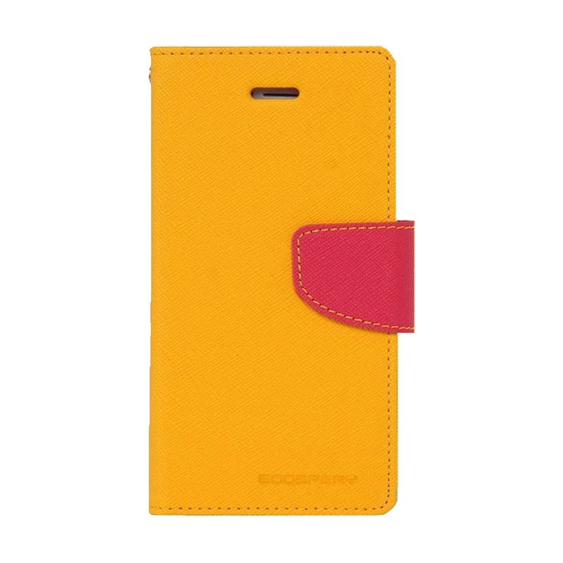 Mercury Goospery Fancy Diary Yellow Hotpink Casing for Galaxy Grand 2