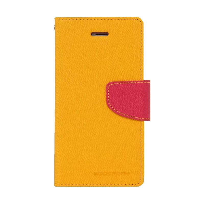 Mercury Goospery Fancy Diary Yellow Hot Pink Casing for Galaxy Grand1/Grand Neo