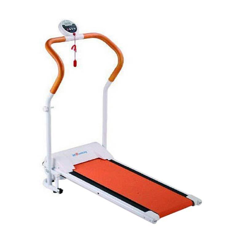 Grosir Plus Treadmill Elektrik Excider Walking Alat Fitness & Training White-Orange