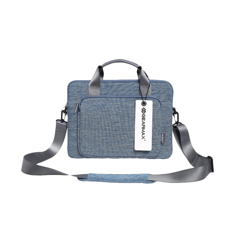 GEARMAX Premium GM39061 Original Tas Laptop - Blue [11.6 Inch/12 Inch/Snowflakes Fabrics Nylon]