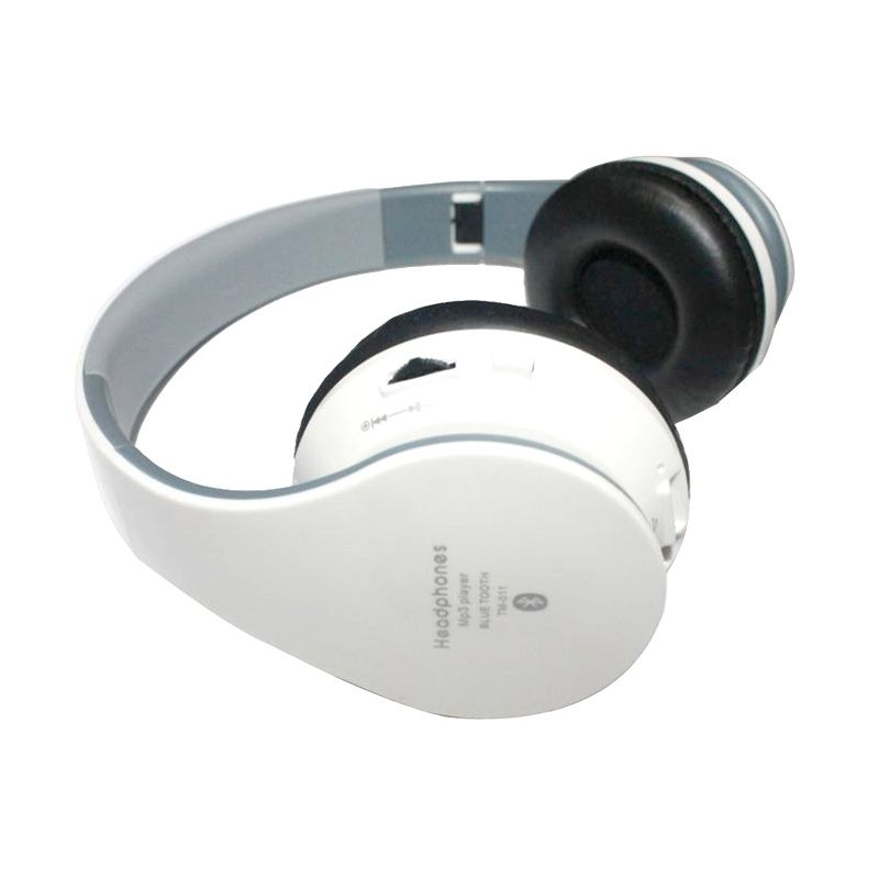 Grosirunik99 TM-011 White Bluetooth Stereo Headset