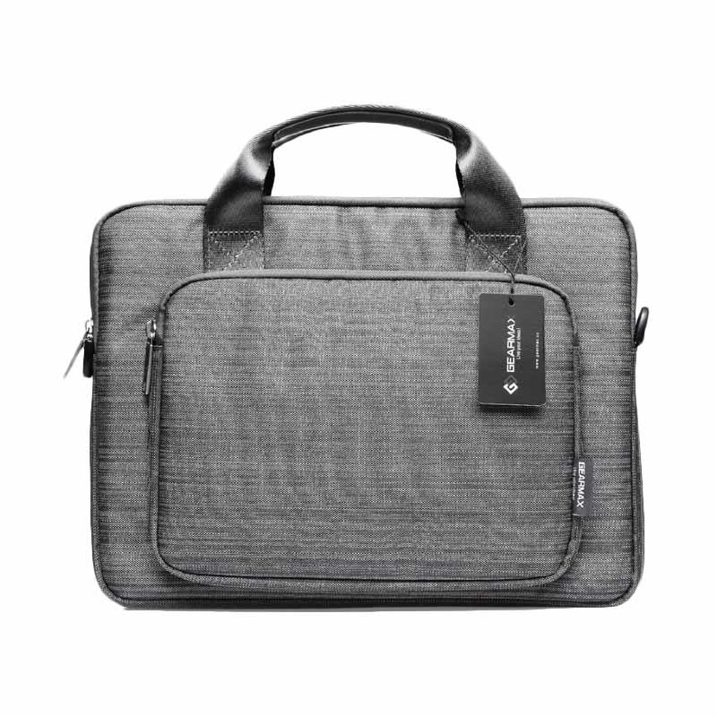 Gearmax Premium Original GM39061 Snowflakes Fabrics Nylon Oxford Laptop Sleeve Case Tas Laptop - Ash [11.6 - 12 Inch]