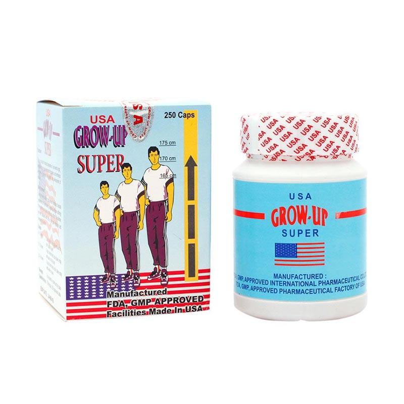 PROMO ( 3 BOTOL ) Grow Up Super USA Original Suplemen Pertumbuhan Tulang