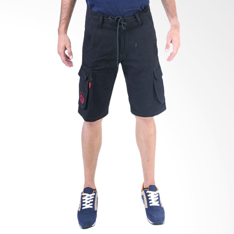 Gshop Aldric GS 4232 Cargo Short Pants - Black