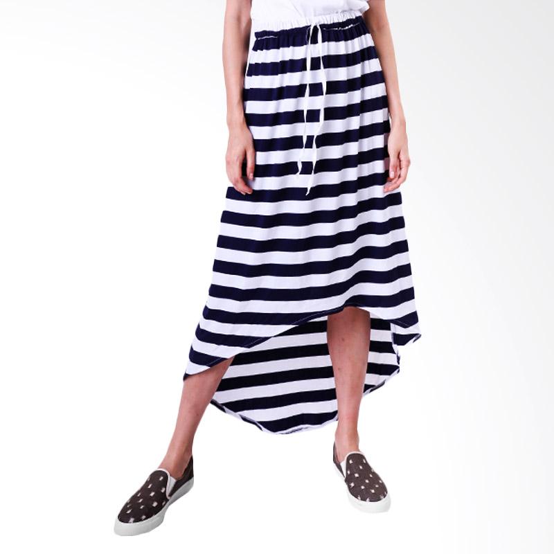 Gshop Bella GR 4296 Long Skirt - Navy Striped