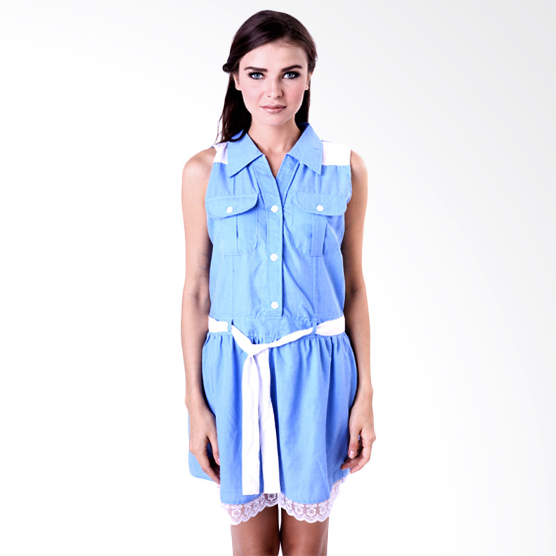 Gshop Dhea GR 3266 Midi Dress Wanita - Blue