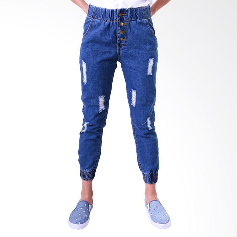 Gshop Rina GR 4262  Denim Jogger Pants - Blue