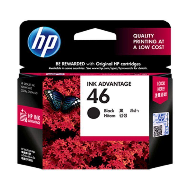HP 46 Black Tinta Printer