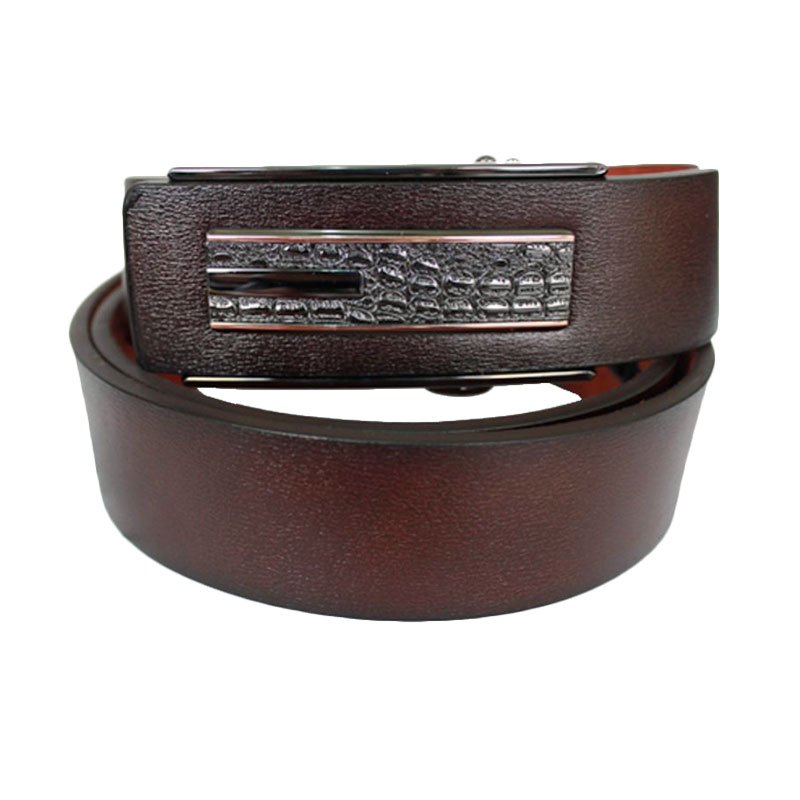 Gudang Fashion  BELT 838 Male Semi Kulit Ikat Pinggang - Brown