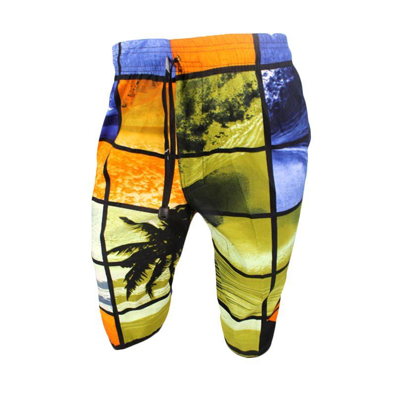Gudang Fashion 03 Pantai Quick Dry Multicolour Celana Pria