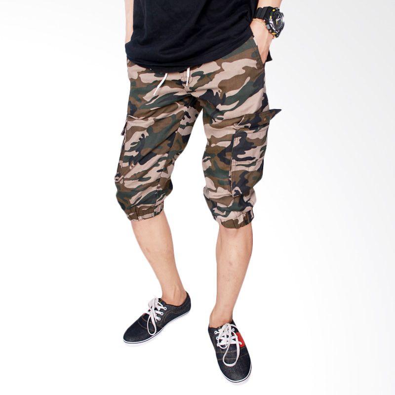 Gudang Fashion Army Jogger Stretch CLN 689 Loreng Celana Pria