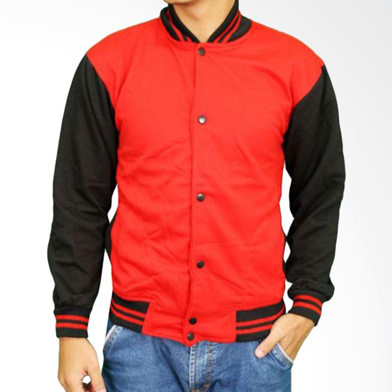 harga Gudang Fashion Baseball Polos Fleece JAK 2159 Jaket - Red Blibli.com