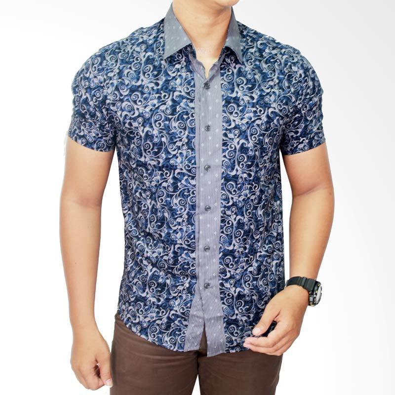 Gudang Fashion Katun BAT 542 Kombinasi Warna Kemeja Batik Pria
