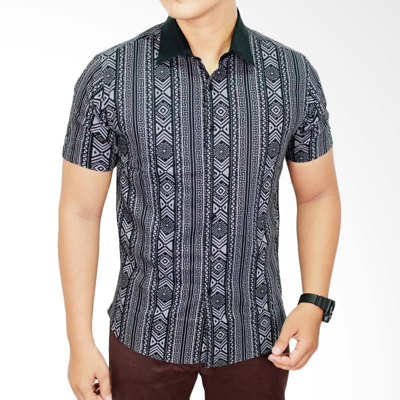 Gudang Fashion BAT 557 Modern Katun Multi Colour Batik Pria