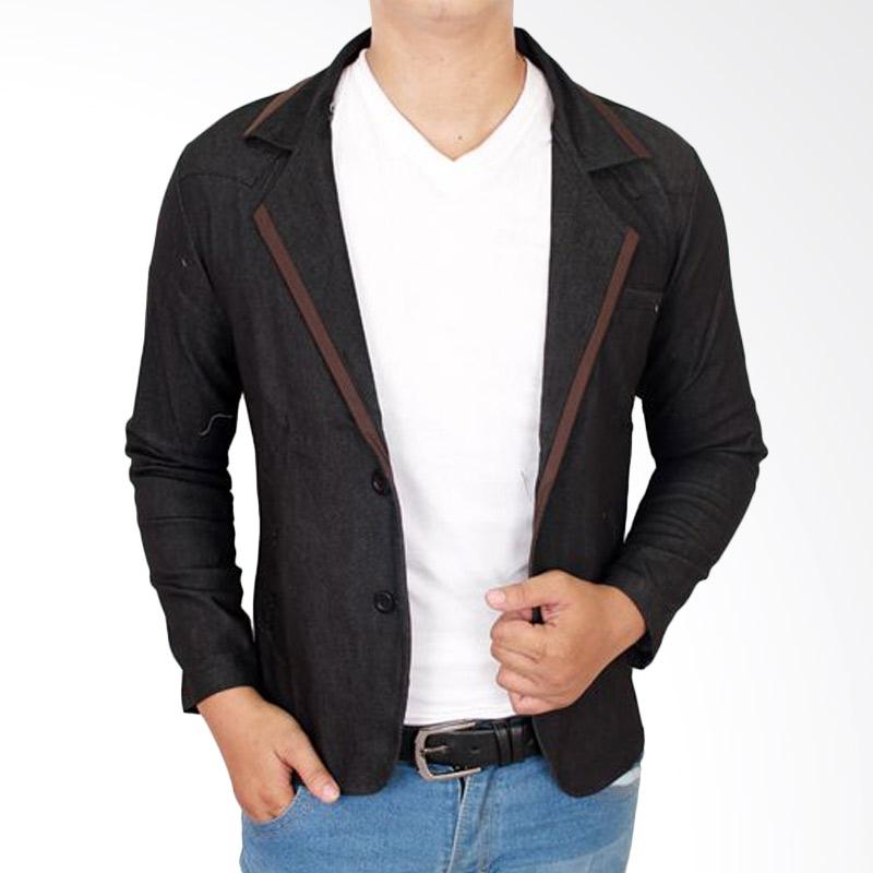 Gudang Fashion Blazer Casual BLZ 719 Outfits Stretch Jeans - Grey