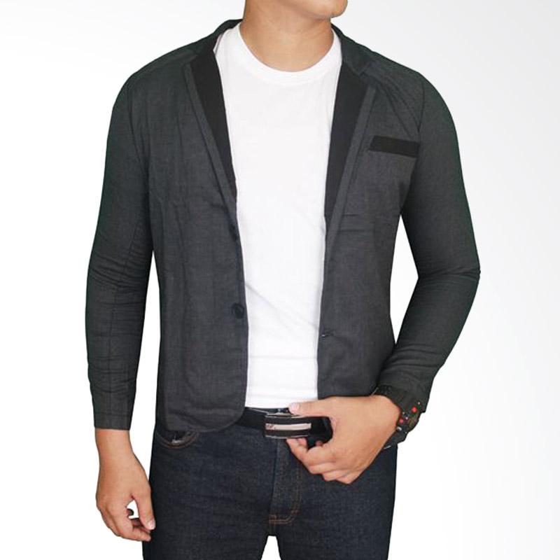 harga Gudang Fashion BLZ 748 Blazer Trendy Stretch - Black Blibli.com