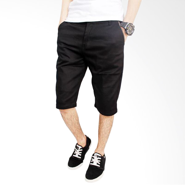 Jual Gudang Fashion Chino Cln 856 Black Celana Pendek Pria Online Harga Kualitas Terjamin