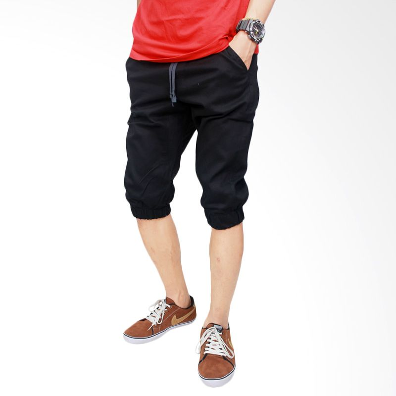 Celana Jogger Pria Batik: Jual Gudang Fashion Stretch CLN 665 Hitam Celana Jogger