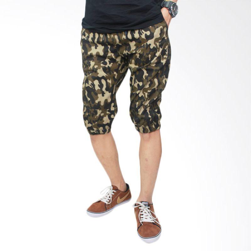 Gudang Fashion Stretch CLN 670 Loreng Celana Jogger Pria