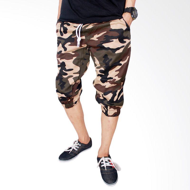 Gudang Fashion CLN 687 Loreng Army Stretch Loreng Celana Pendek Pria