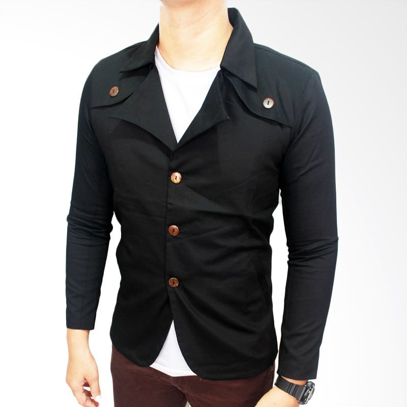 Gudang Fashion Exclusive Hitam Blazer