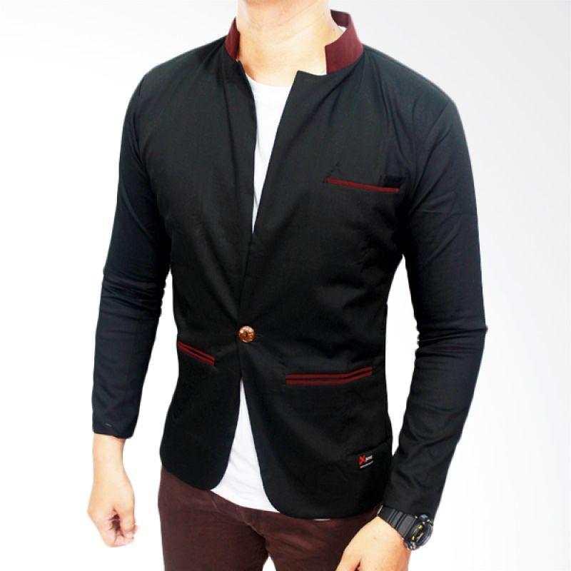 Gudang Fashion Exclusive Katun Hitam Blazer