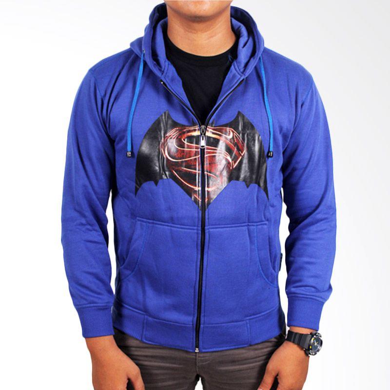 Gudang Fashion Fleece Biru Tua Jaket Pria