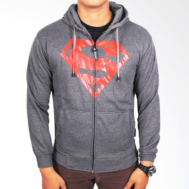 Gudang Fashion Fleece Grey Jaket Pria
