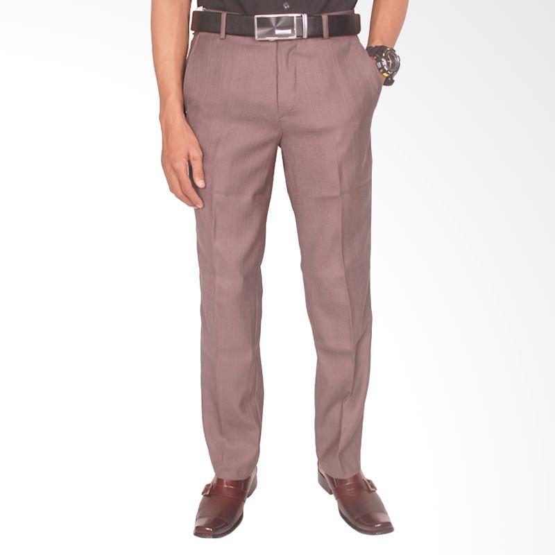 Gudang Fashion Formal Katun CLN 606 Ungu Celana Panjang Pria
