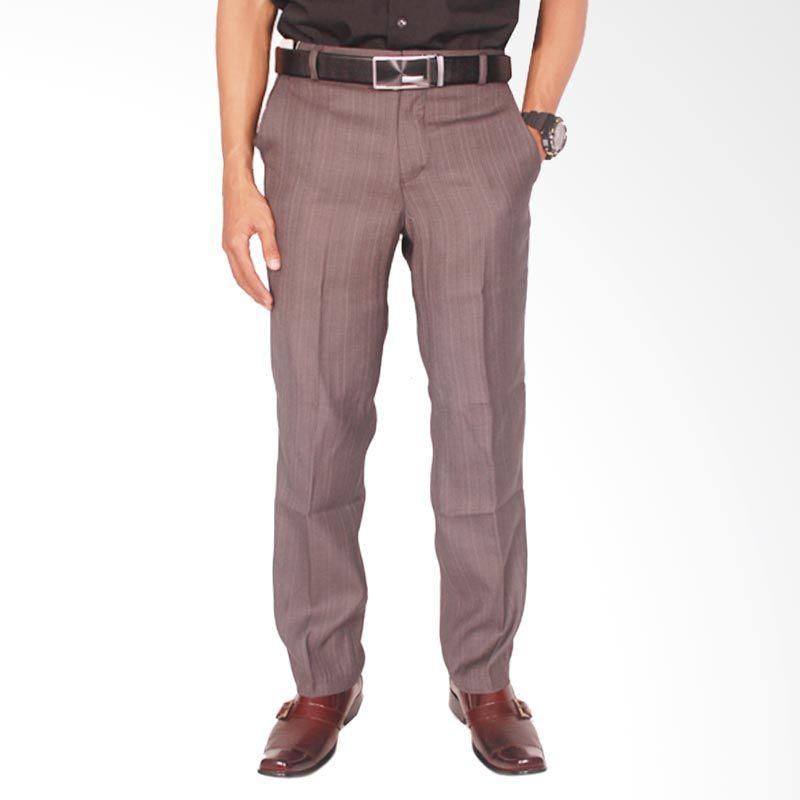 Gudang Fashion Formal Katun Grey Celana Panjang Pria