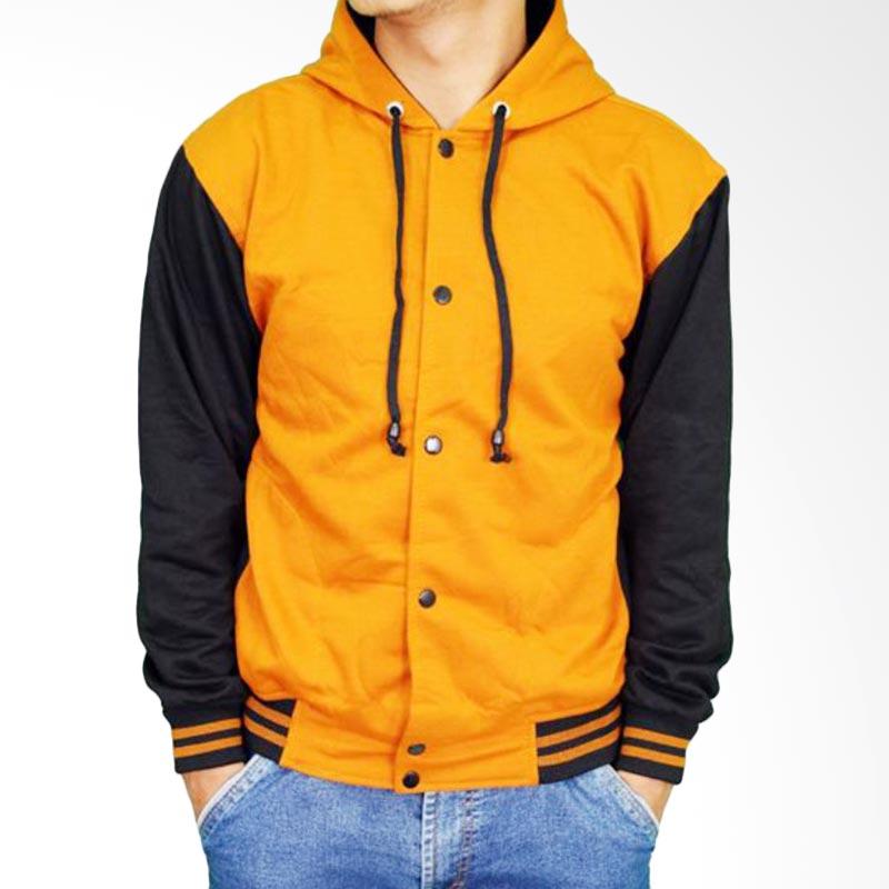 harga Gudang Fashion Polos Fleece JAK 2167 Jaket Baseball - Orange Blibli.com