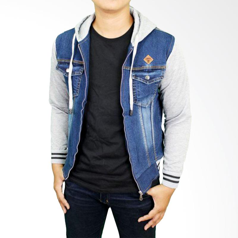 Gudang Fashion JAK 2138 Jaket Jeans Pria - Navy