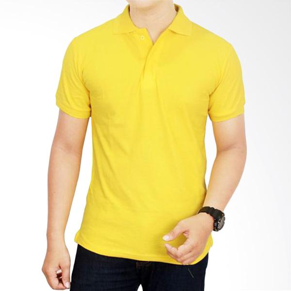 Gudang Fashion Kaos Polos Kerah POL 59 Kuning Kenari Atasan Pria Extra diskon 7% setiap hari Extra diskon 5% setiap hari