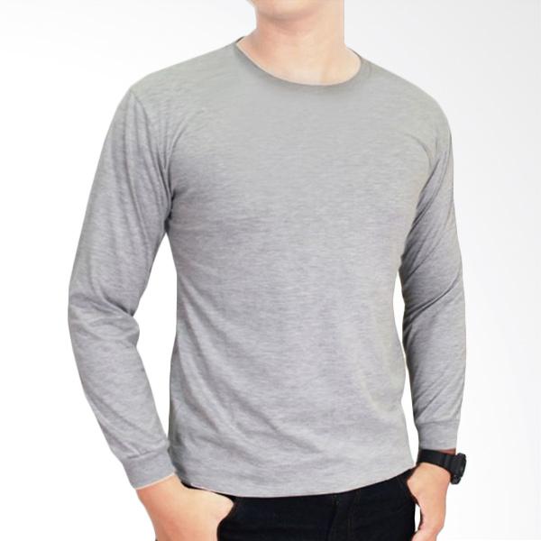 Gudang Fashion POL 36 Kaos Polos O-neck Panjang Cotton combed 20S Abu T-Shirt Extra diskon 7% setiap hari Extra diskon 5% setiap hari Citibank – lebih hemat 10%